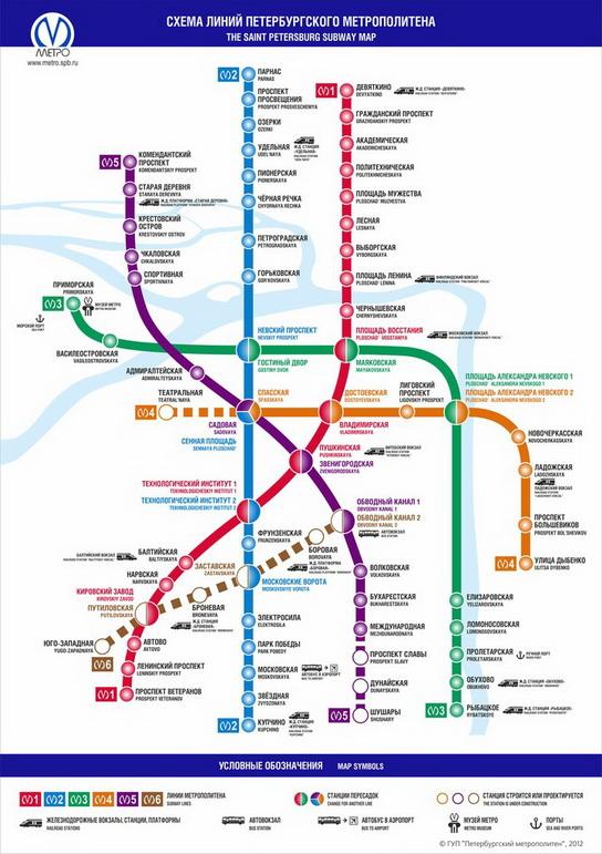 Отели на карте метро